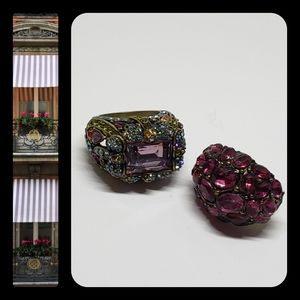 2 Rings, Heidi Daus & Vintage Retro Ring